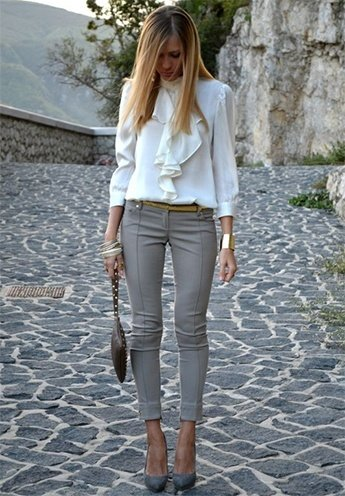 Ways to pair grey pants