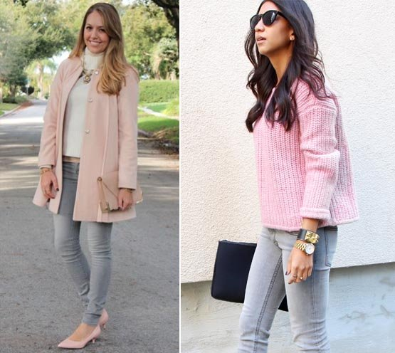 Colors what to wear with grey jeans pictures