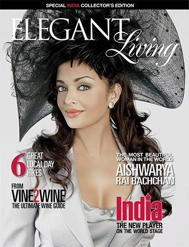Aishwarya Rai on Elegant Living
