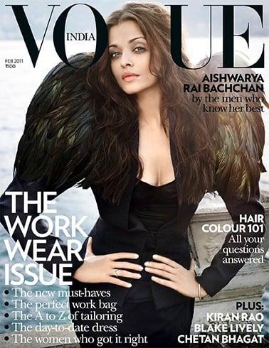 Aishwarya Rai on Vogue magazine cover