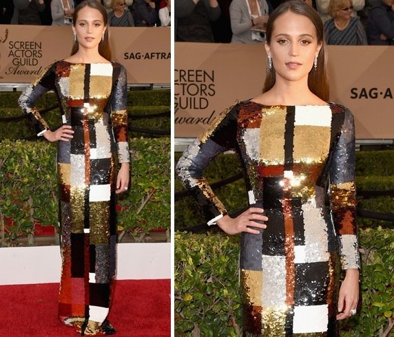 Alicia Vikander at 22nd Screen Actors Guild Awards