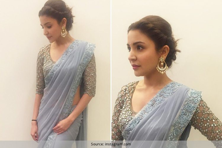 Anushka Sharma in grey Saree