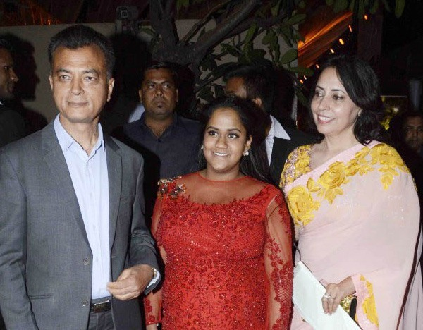 Arpita with her in-laws