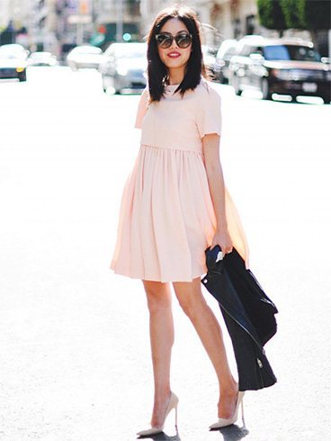 Baby pink frock