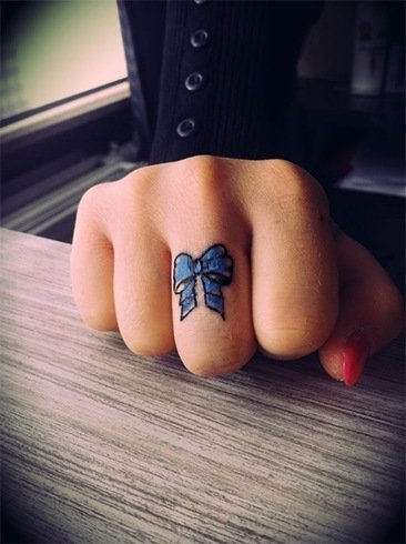 Bow Ring Tattoo Designs