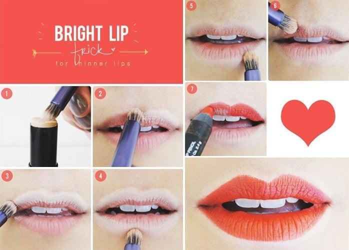 Bright lip trick