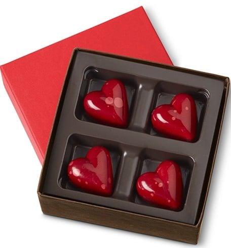 Valentine Day Chocolate Hearts