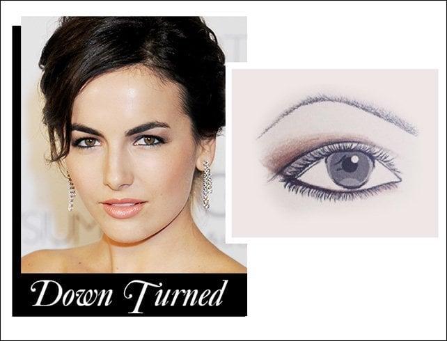 Downturned eye contour