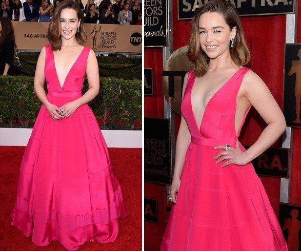 Emilia Clarke at 22nd SAG Awards