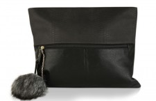 Giant Pompom Clutch Bag
