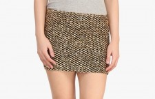 Golden A-Line Skirt