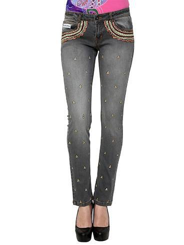 Hand-painted Tribal Booti Jeans