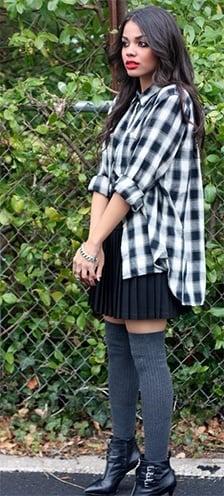 how to wear a plaid shirt girls
