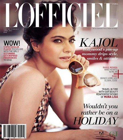 Kajol on Lofficiel magazine cover