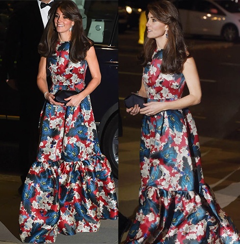 kate middleton floral maternity dress