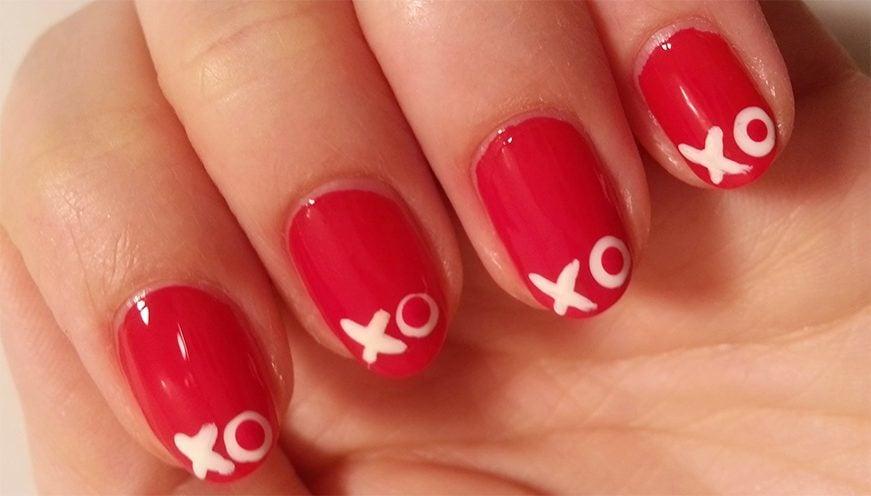 kiss nail art ideas