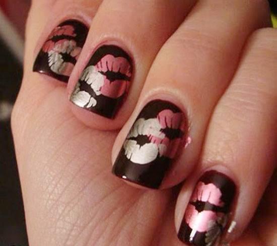 kiss nail art tutorial