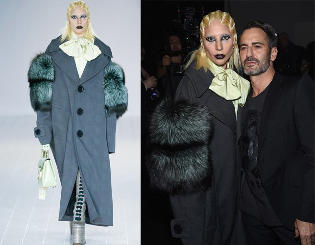 Lady Gaga at Marc Jacobs fall 2016