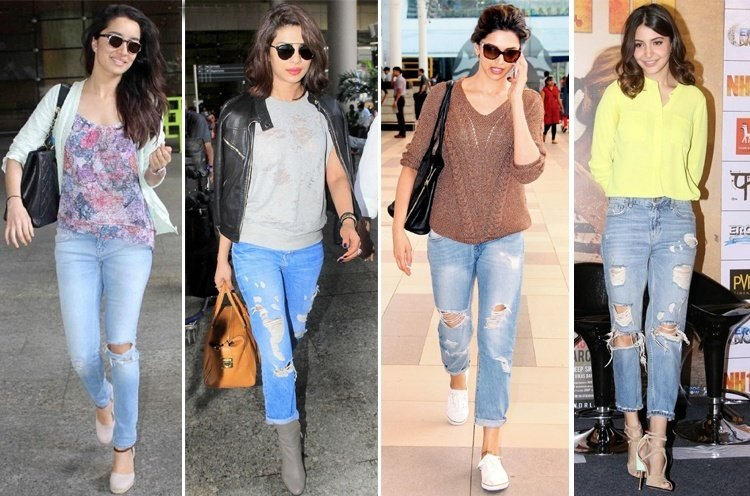 light blue jeans outfits