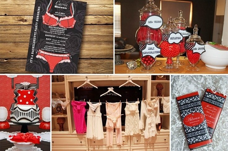 Lingerie bridal shower decoration