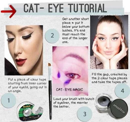 Liquid Eyeliner Makeup Ideas