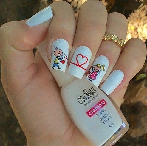 Lovers Nail Art