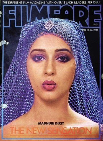 Madhuri Dixit on Filmfare magazine