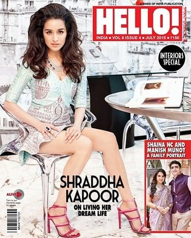 magazine cover of shraddha kapoor