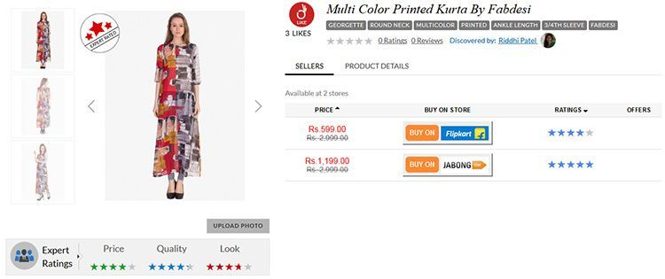 Multi color printed kurta by fabdesi