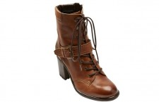 Next Tan Leather Heeled Lace-Up Boots