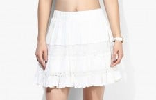 People White A-Line Skirt