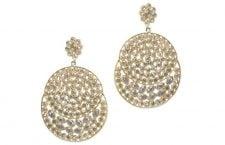 Polki Earrings In 925 Sterling Silver