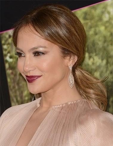 ponytail hairstyles for Jennifer Lopez