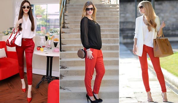 What To Wear With Red Pants Puzzle Solved