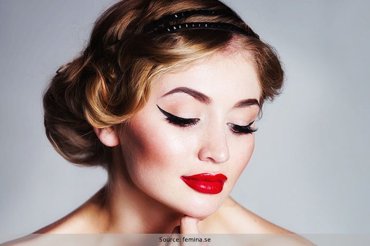 retro eye makeup use liquid eyeliner to master the