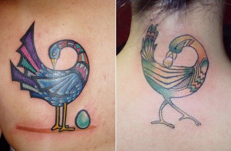 Small Sankofa Bird Tattoo