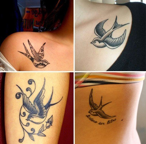 fly along with these cool bird tattoos. Black Bedroom Furniture Sets. Home Design Ideas