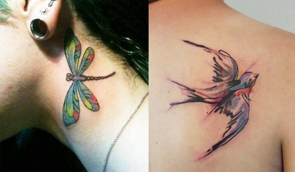 Fly along with these cool bird tattoos for Tiny bird tattoo