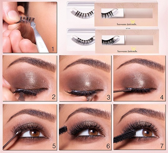 Step by step eyelashes