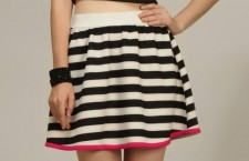 Striped Short Skirt