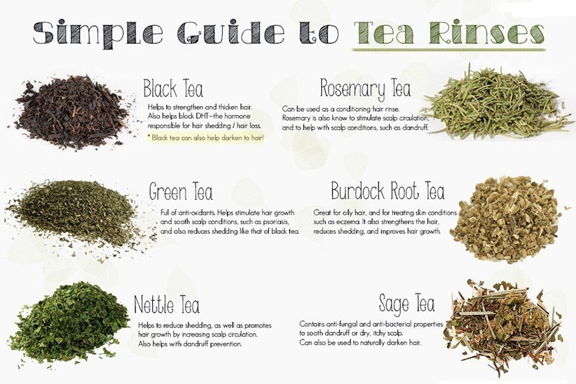 Tea Rinses For Your Hair