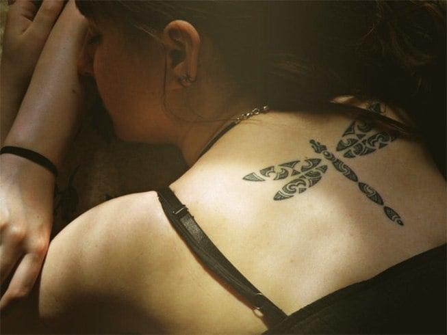 Tribal Dragon Fly Tattoo