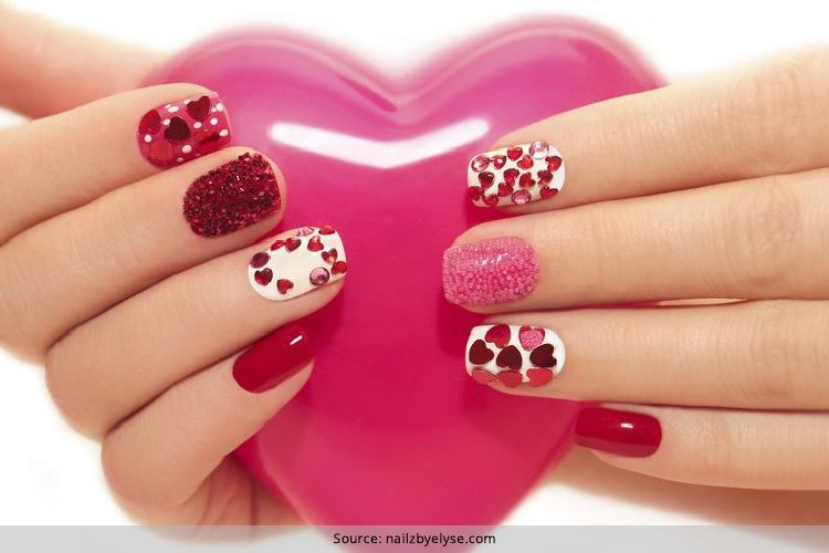 33 Valentine\'s Day Nail Art Designs: Season Of Love Just Got Nailed