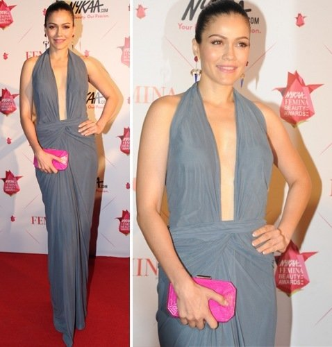 Waluscha De Sousa in Zulekha Shariff ash gown