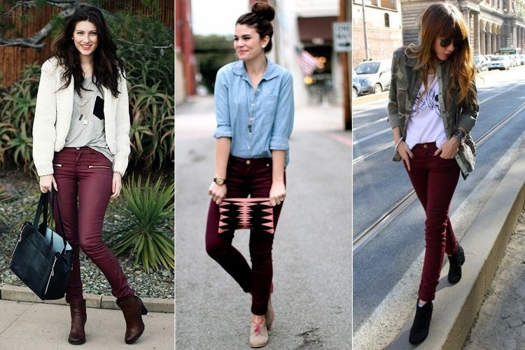 What To Wear With Maroon Pants .