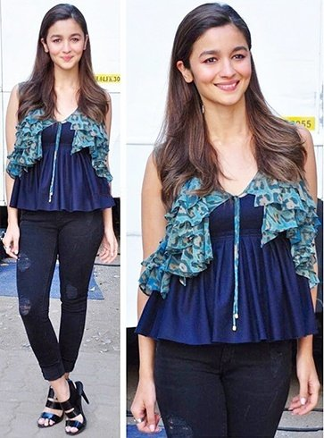Alia Bhatt In Diesel Denim At K and S promotions