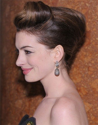 Anne Hathaway French Twist Hairstyle