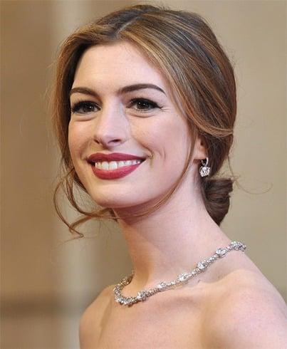 Anne Hathaway Loose Bun