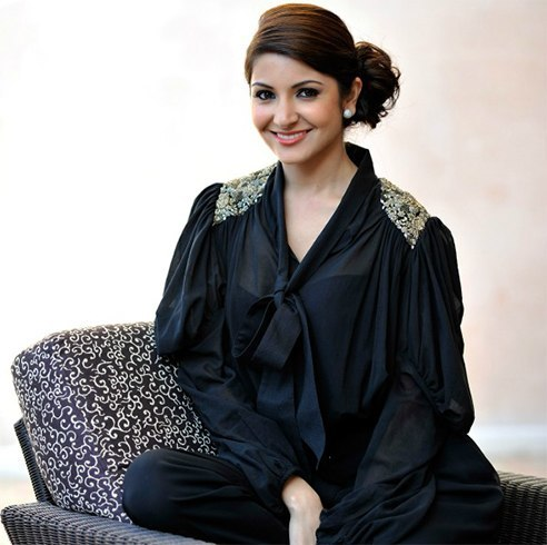 Anushka Sharma Side Bun Hairstyle