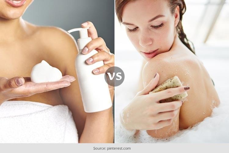 Bar Soap vs Body Wash